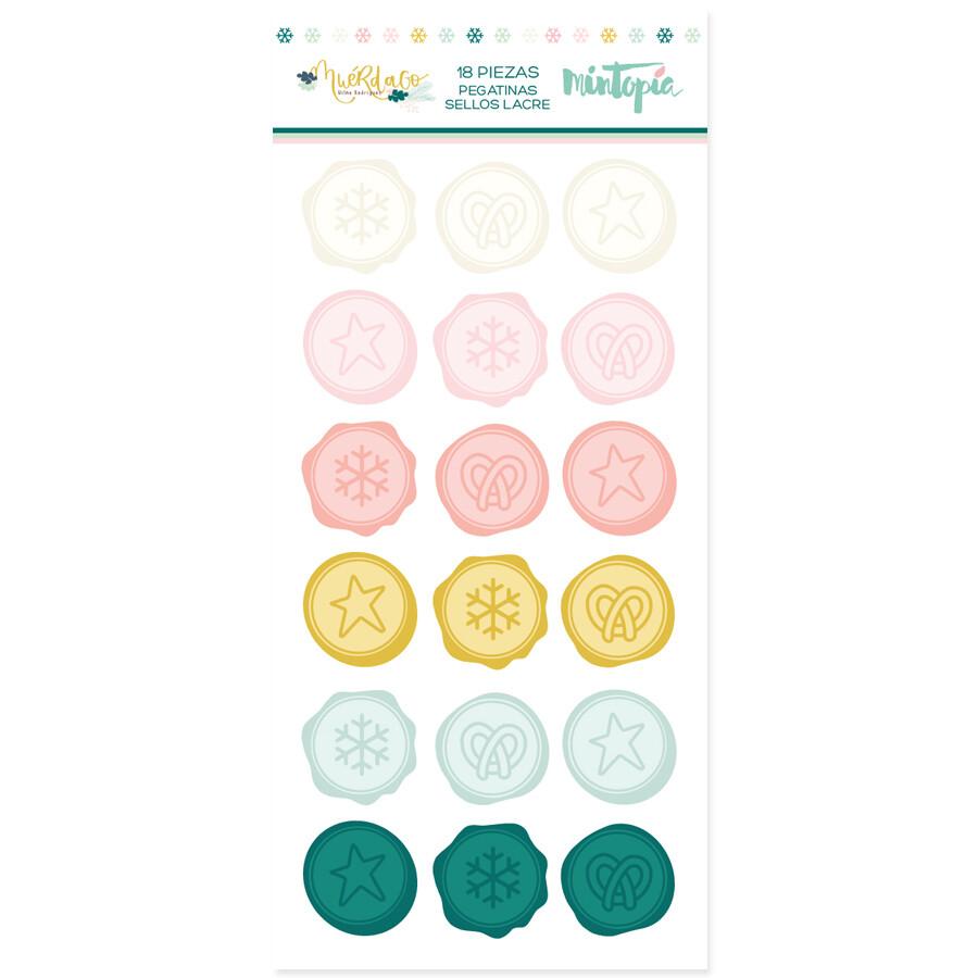 PREVENTA | Stickers - Sellos de Lacre Muérdago