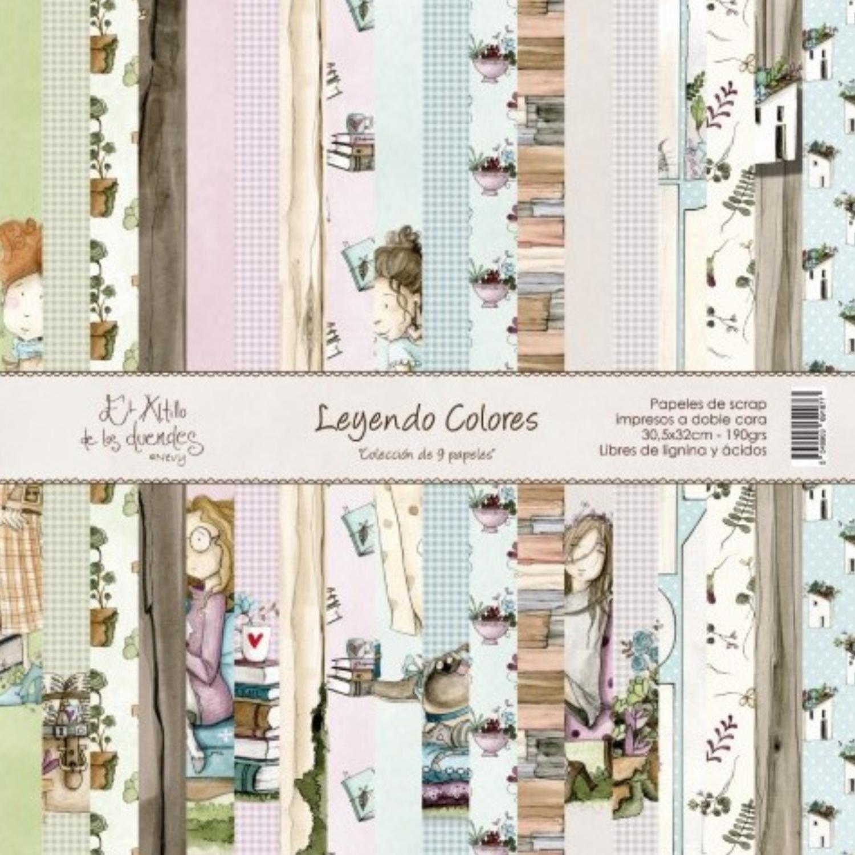 """Colección de Papeles 12""""x12"""" - Leyendo Colores"""