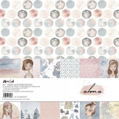 """Colección de Papeles 12""""x12"""" - Alma"""