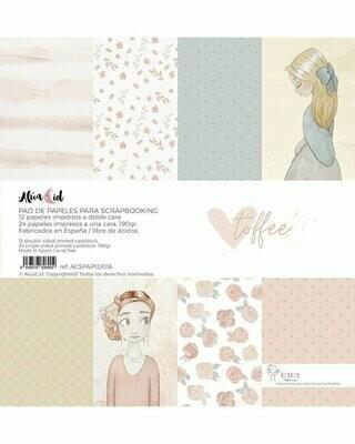 """Colección de Papeles 12""""x12"""" - Toffee"""
