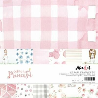 """Colección de Papeles 12""""x12"""" - Como una Princesa"""