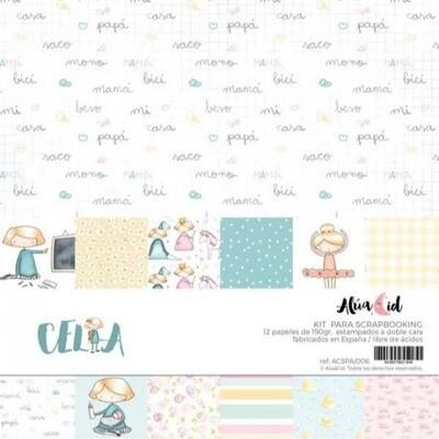 """Colección de Papeles 12""""x12"""" - Celia"""