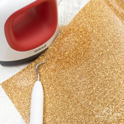 Lámina Vinilo Textil - Oro Glitter
