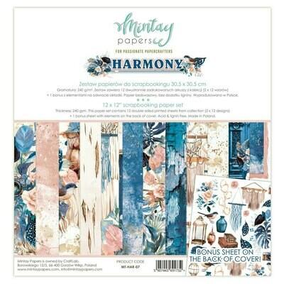 """Colección de Papeles Doble Cara 12""""x12"""" - Harmony"""