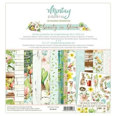"Colección de Papeles Doble Cara 12""x12"" - Beauty in Bloom"