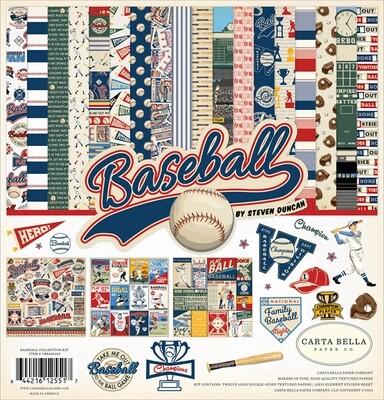 """Colección de Papeles 12""""x12"""" - Baseball"""