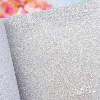 Rollo Vinilo Textil - Glitter Unicornio Plata