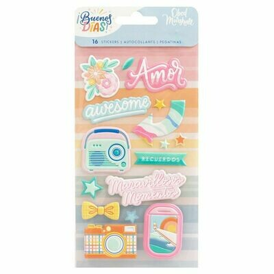 Embossed Puffy Stickers - ¡Buenos Días!
