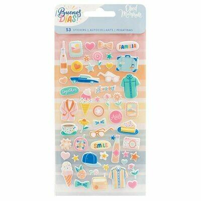 Mini Puffy Stickers - ¡Buenos Días!
