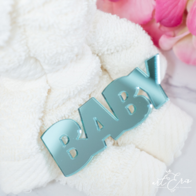 Palabra de Metacrilato - Baby Espejo Turquesa