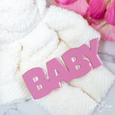 Palabra de Metacrilato - Baby Espejo Rosa