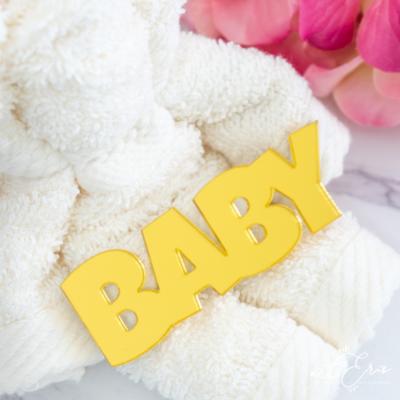 Palabra de Metacrilato - Baby Espejo Dorado