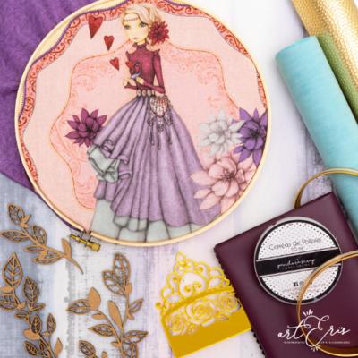 Kit de Materiales - Álbum Octágono (Tela Lady)