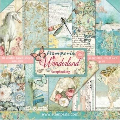 """Colección de Papeles 12""""x12"""" - Wonderland"""