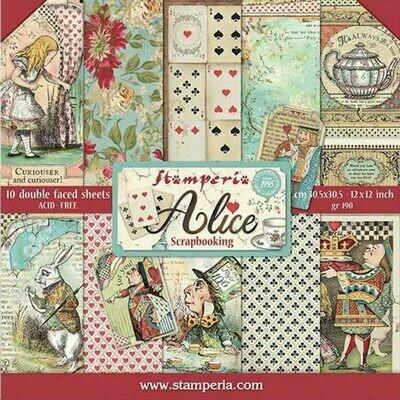 """Colección de Papeles 12""""x12"""" - Alice"""