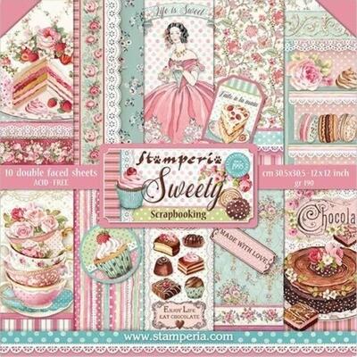 """Colección de Papeles 12""""x12"""" - Sweety"""