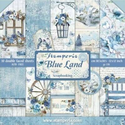 """Colección de Papeles 12""""x12"""" - Blue Land"""