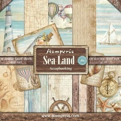 """Colección de Papeles 12""""x12"""" - Sea Land"""