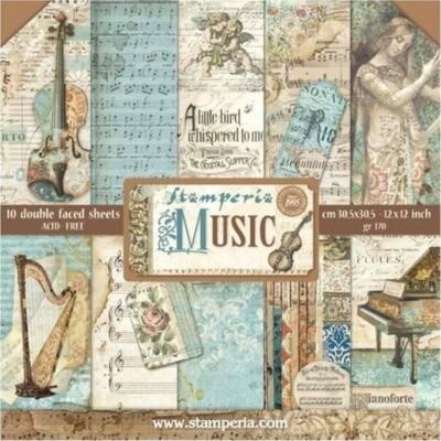 """Colección de Papeles 12""""x12"""" - Music"""