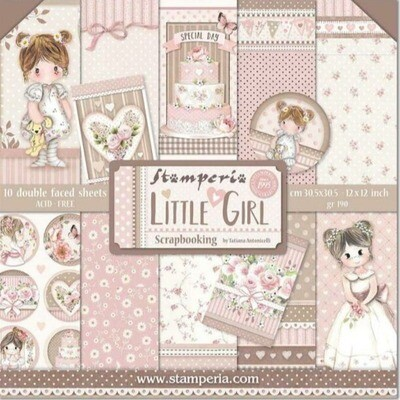 """Colección de Papeles 12""""x12"""" - Little Girl"""