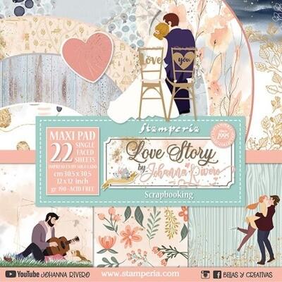 "MAXIPAD de Papeles 12""x12"" - Love Story"