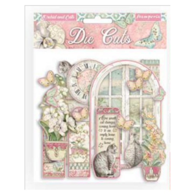 Die Cuts - Orchids and Cats