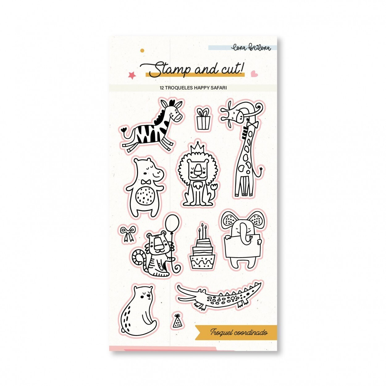 Sellos y Troqueles Coordinados - Happy Safari
