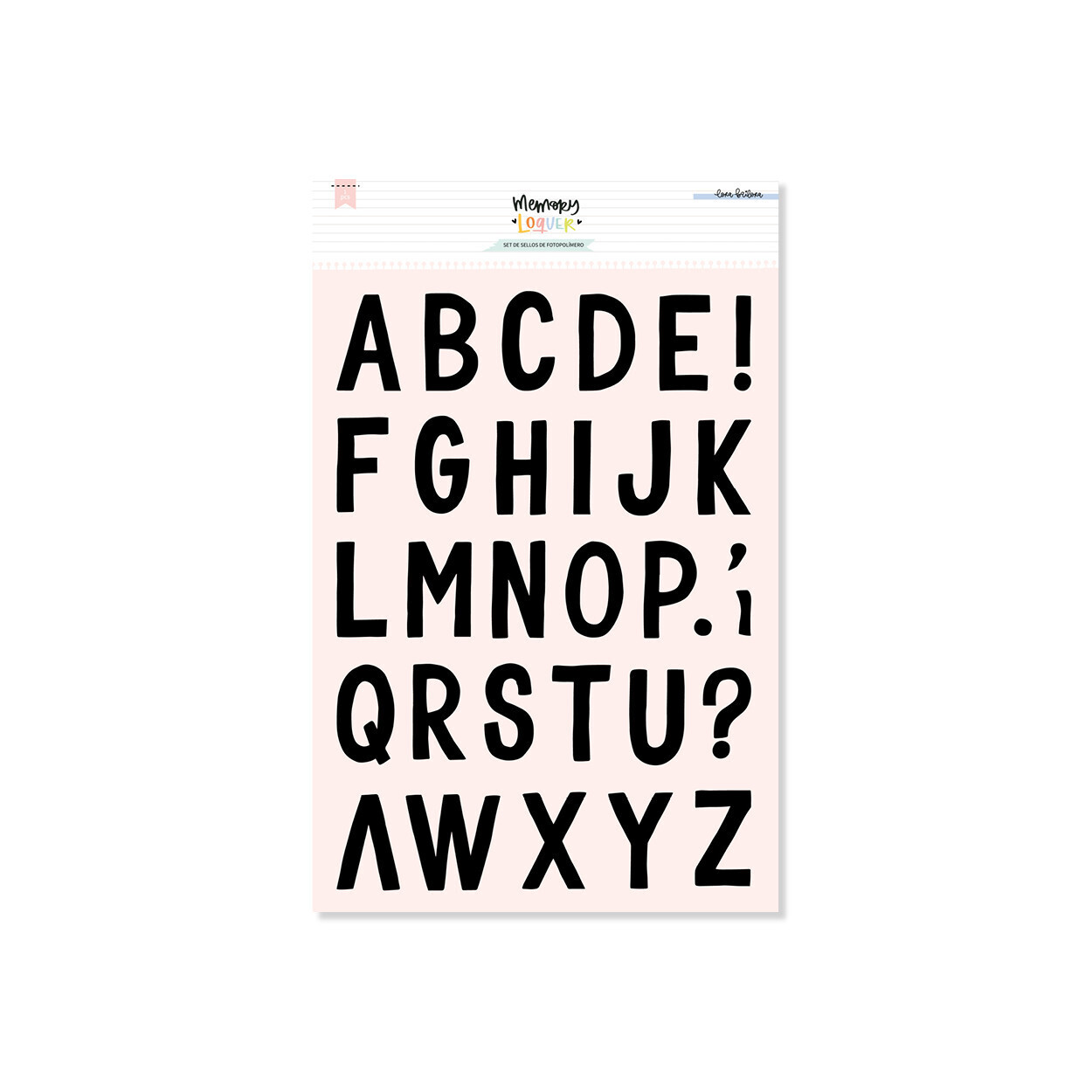 Set de Sellos - Alfabeto MIX XL