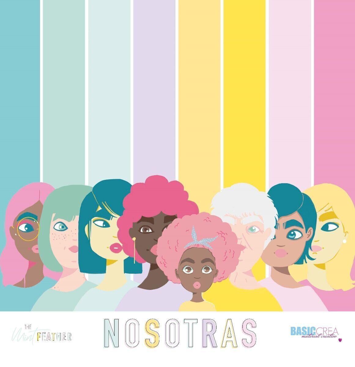 """Colección de Papeles 12""""x12"""" - Nosotras"""