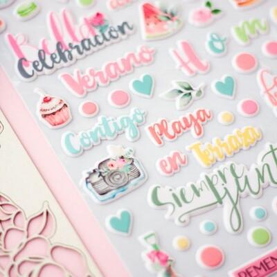 Puffy Stickers -  Celebration