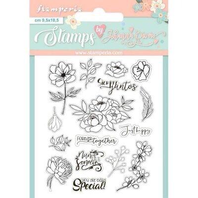 Set de Sellos -  Flores Celebration