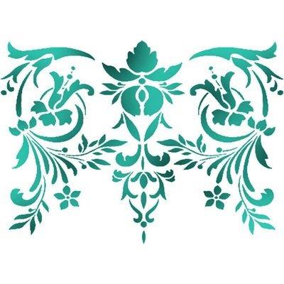 Stencil - Flowers & Leaves Decor