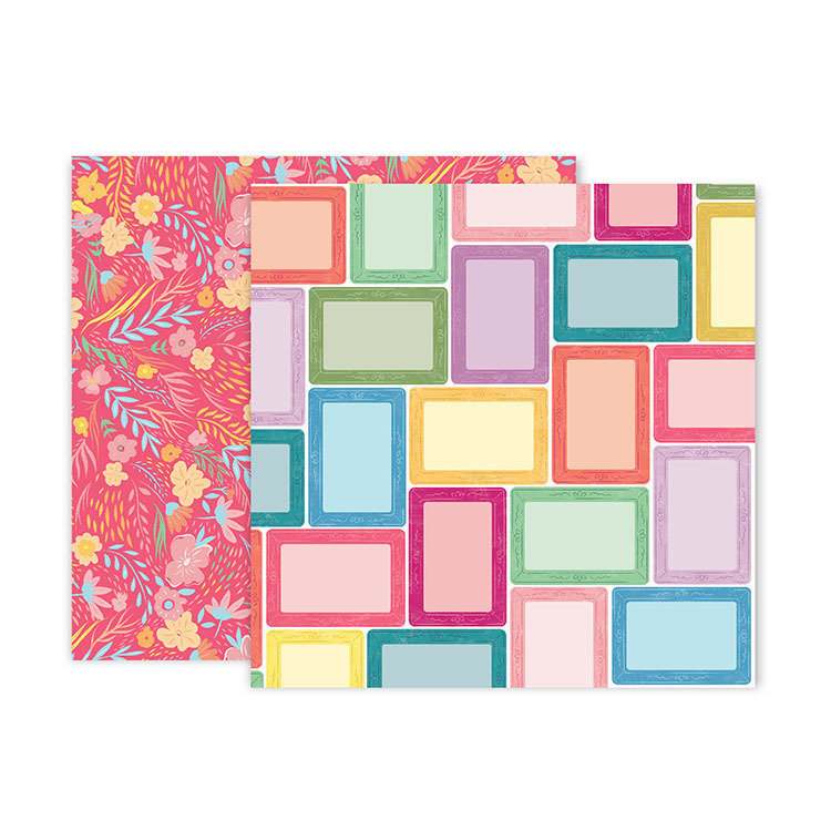 "Papel Doble Cara 12""x12"" - #7 Whimsical"