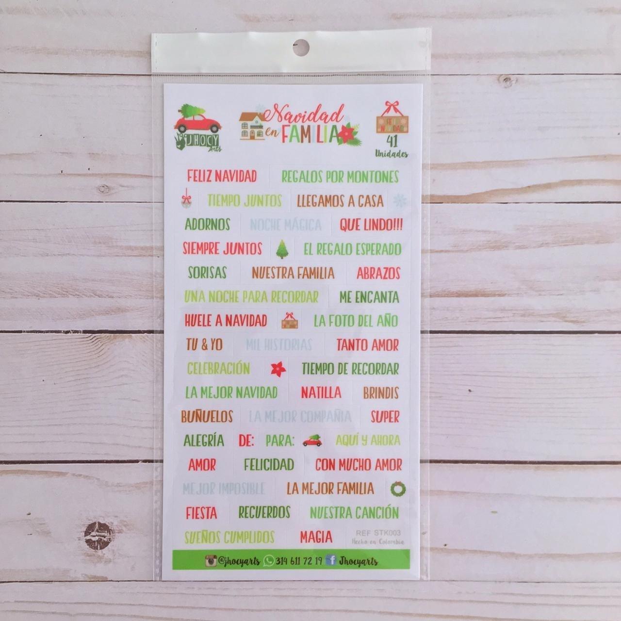 Stickers - Frases Navidad en Familia