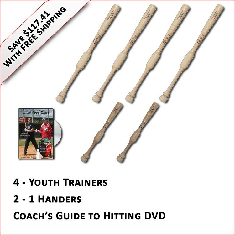 4 Youth Trainers, 2 - 1 Handers, & Coach's Guide to Hitting DVD