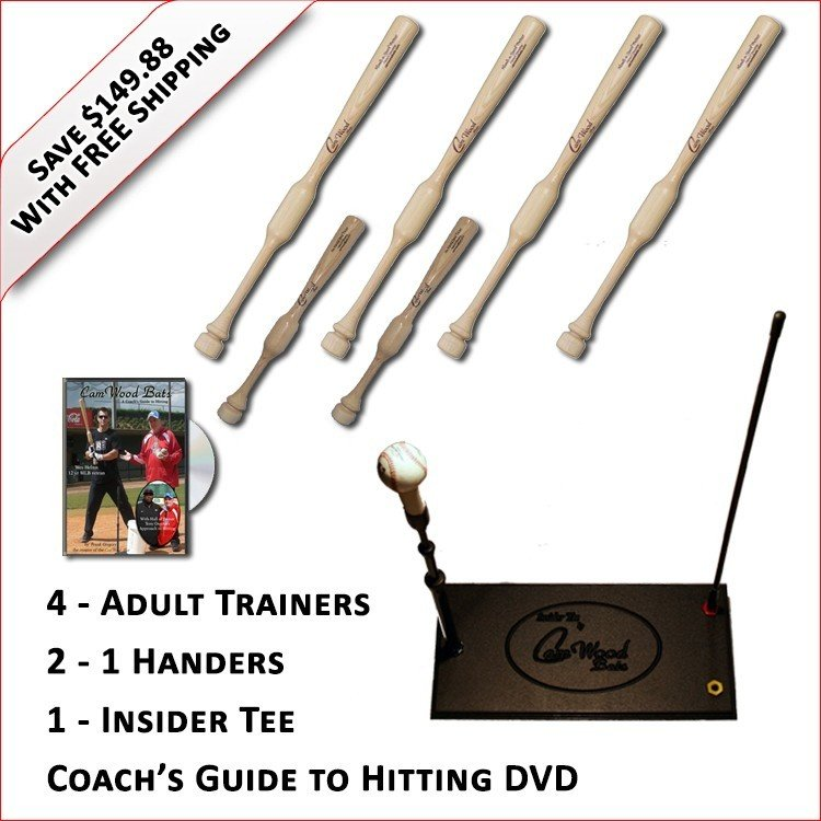 4 Trainers, 2 - 1 Handers, Insider Tee & Coach's Guide to Hitting DVD