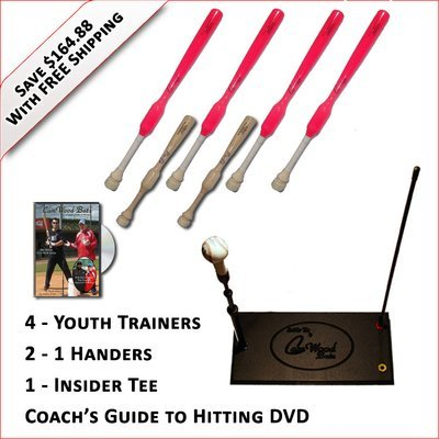 4 Softball Trainers, 2 - 1 Handers, Insider Tee & Coach's Guide to Hitting DVD