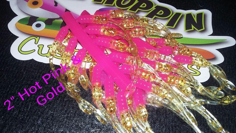 """2"""" Hot Pink & Gold per 12 pk"""