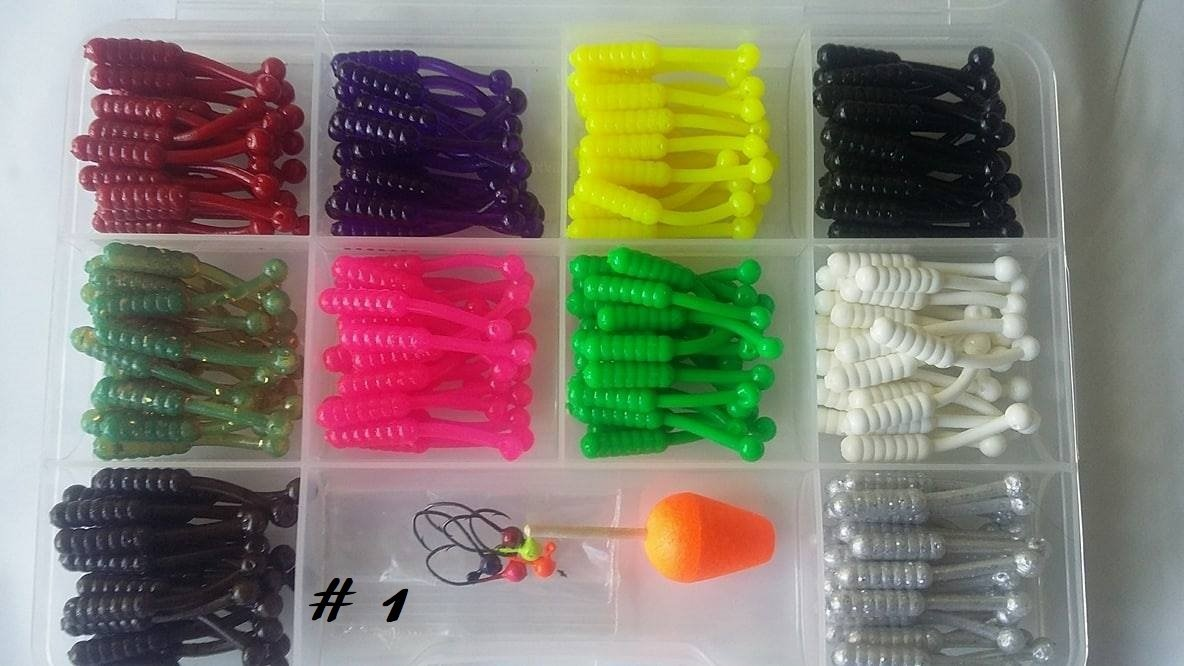 "​100 piece 1 3/8"" Crappie Bomb singles kit"