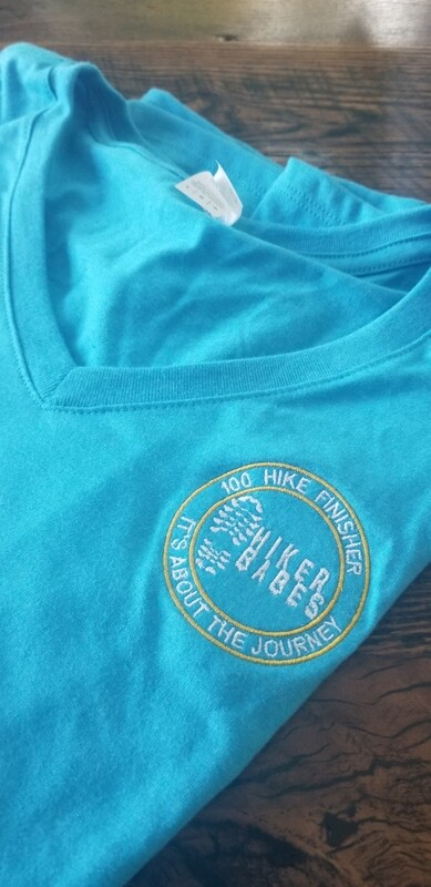 100 Hike Finisher Embroidered TEE