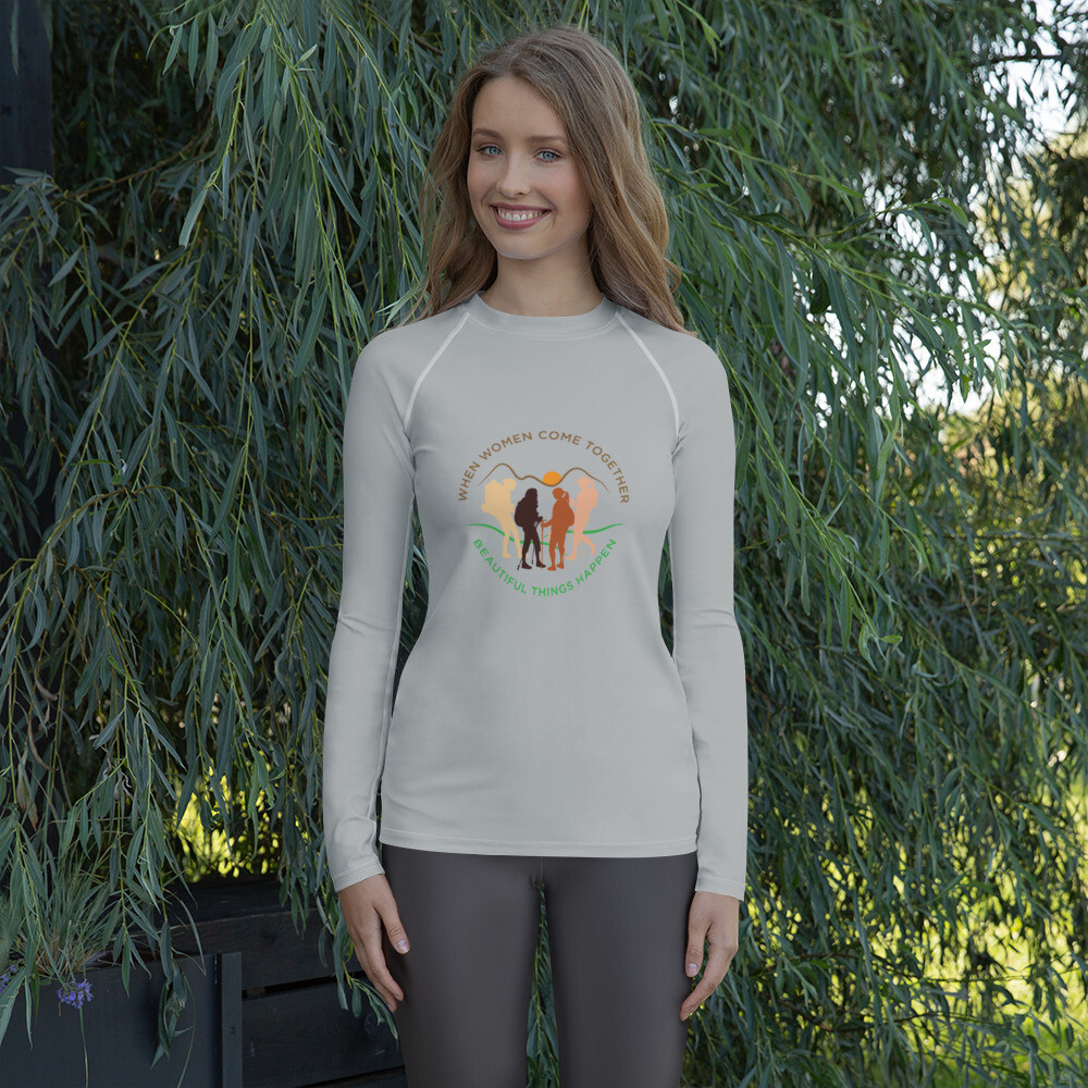 Women come together All weather Women's Rash Guard