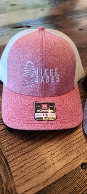 Limited Edition Hikerbabes pink w/white snapback Hat