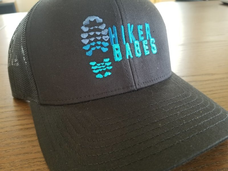 Black/blue Embroidered Hikerbabe Trucker Hat