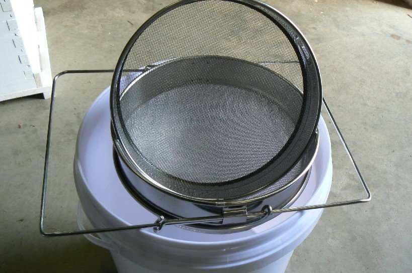 Double Honey Strainer - Stainless Steel