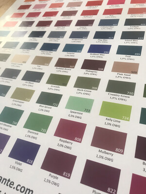 Farbplakat Washfast Acid Dyes