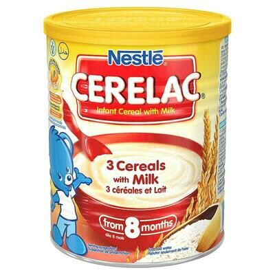 Nestle Cerelac 3 Cereals with Milk, 400g