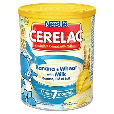 Nestle Cerelac Banana & Wheat with Milk, 400g