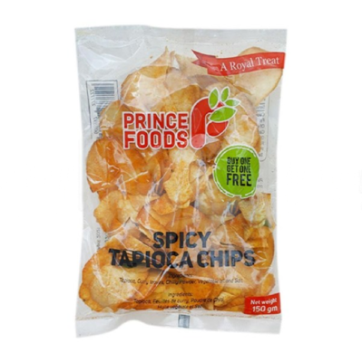 Prince Foods Spicy Tapioca Chips, 150g - Buy One Get One Free