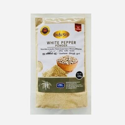 Indu Sri White Pepper Powder / සුදු ගම්මිරිස් කුඩු, 100g