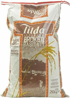 Tilda Superior Broken Basmati Rice, 20kg
